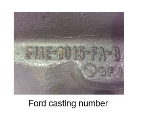 How to find a casting number